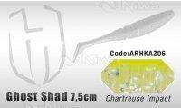 PRZYNĘTA HERAKLES GHOST SHAD 7.5cm - CHARTREUSE IMPACT