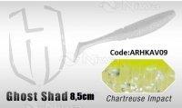 PRZYNĘTA HERAKLES GHOST SHAD 8.5cm - CHARTREUSE IMPACT