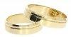 Obrączki ślubne złote 585 płaskie z fazą 5 mm