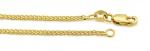 Złoty łańcuszek 585 splot lisi ogon