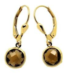 Złote kolczyki 585 dymione cyrkonie