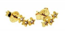 Złote kolczyki 585 gwiazdki