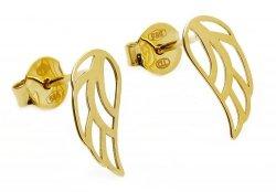 Złote kolczyki 5585 skrzydelka