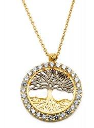 Złoty naszyjnik 585 drzewo życia