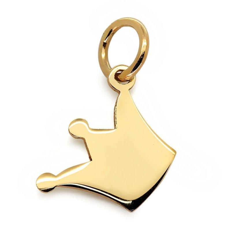 Złoty naszyjnik 585 14k KORONA z łańcuszkiem | GRAWER | ETUI