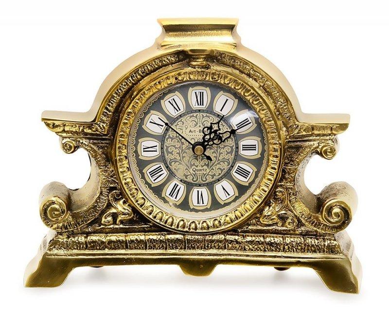 Zegar Mosiężny Napoleon styl Empire Kominkowy MOSIĄDZ