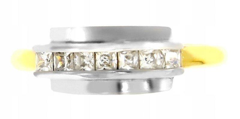 Złoty pierścionek 585 2 kolory