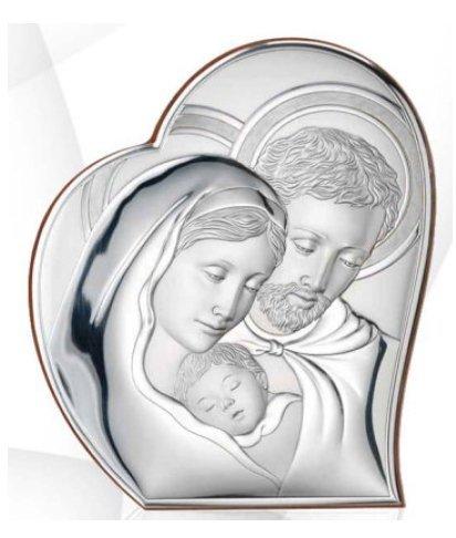 Święta Rodzina srebrny obrazek Ryngraf ślub chrzest