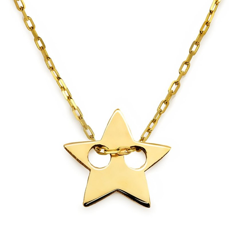 Złoty naszyjnik gwiazd | złota CELEBRYTKA 585 z gwiazdką