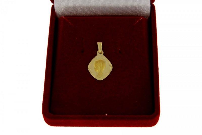 Złota zawieszka z wizerunkiem Matki Boskiej 585