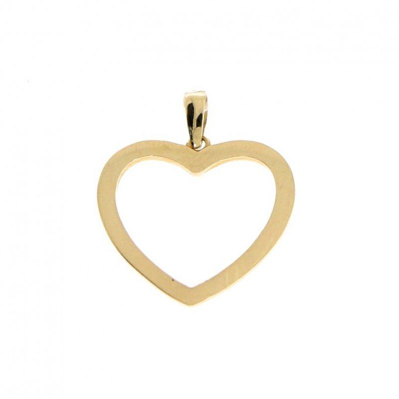 Zawieszka serce  złoto 585