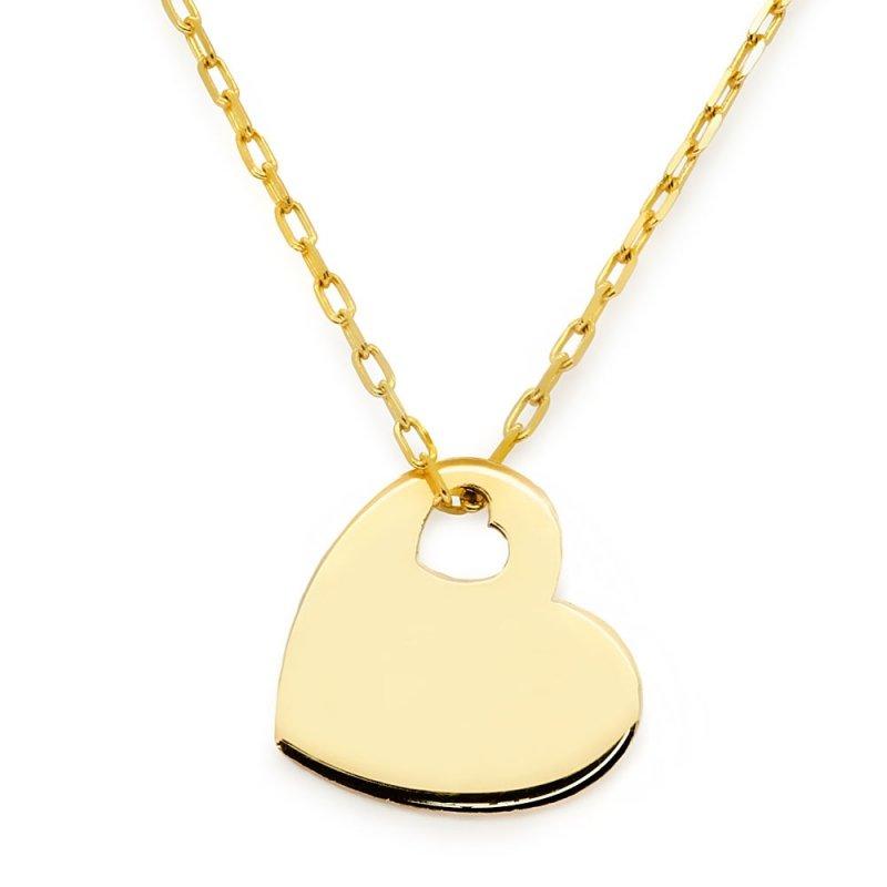 Złoty naszyjnik gwiazd serce | złota CELEBRYTKA 585 z serduszkiem