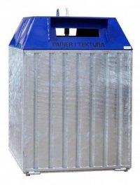 Metalowy pojemnik do segregacji Typ DZWON PD-D 1500L ( papier)