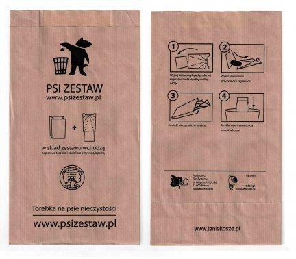 !PROMOCJA Papierowe torebki na Psie odchody ( psiZestaw.pl ) - 200 szt.