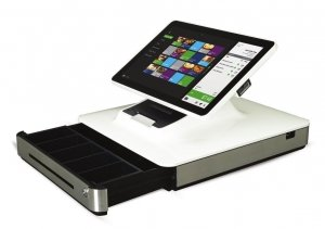 Elo PayPoint, 33.8cm (13,3''), Projected Capacitive, SSD, VFD, Scanner, Android, white