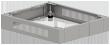 Cokół uniwersalny do szaf wiszących 19 regulowany szer. 600 x głęb. 400, 500, 600 mm, kolor szary