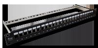 Panel krosowy modularny 19, 1U, 24 porty, niewyposażony, z podporą