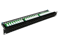 Patch panel OPTIMUM UTP kat.6 48 portów LSA 1U