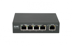 Switch TG-NET 5-portowy 10/100Mbps 4xPoE + 1-Port 10/100Mbps P1005D-4PoE 60W