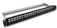 Patch panel 19 modularny 24 porty 1U z podporą niewyposażony