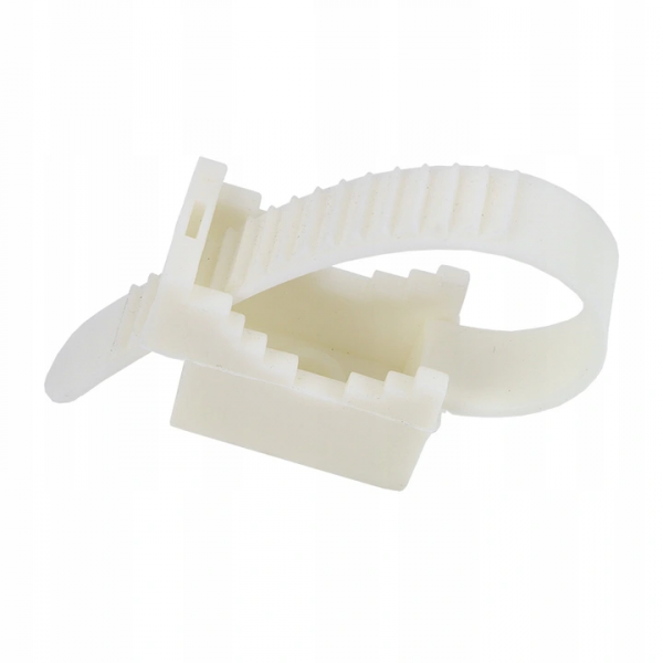 Uchwyt paskowy do kabli UP-30 biały 100szt