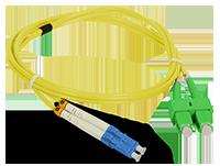 Patch cord SC/APC-LC/UPC duplex SM 1m