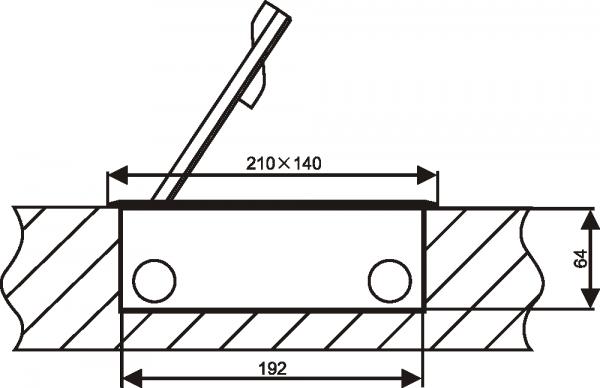 Puszka podłogowa 2 x 1.5M (45x45) metal, do wylewki betonowej