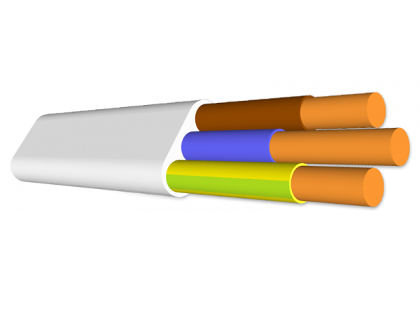 Przewód Qlantec YDYP 3x2,5 750V - 100mb (krążek) płaski