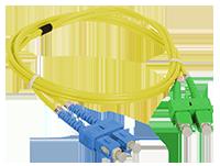 Patch cord SC/APC-SC/UPC duplex SM 1m