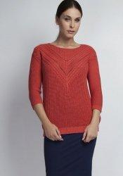Sweter MKM Penny SWE041 koralowy