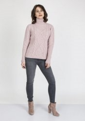 Sweter MKM Estelle SWE 121 Pudrowy róż