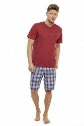 Piżama męska Henderson Trip 35711-33X Czerwono-szara