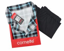 Piżama męska Cornette Mike 114/32 Szaro-niebieska