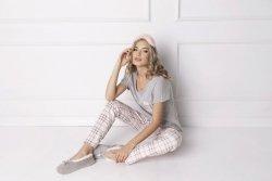 Piżama damska Aruelle Londie Long Grey
