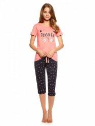 Piżama damska Henderson Trixie 36794-32X Koralowo-granatowa