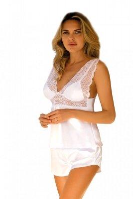 Piżama damska Clarisse biała Dkaren