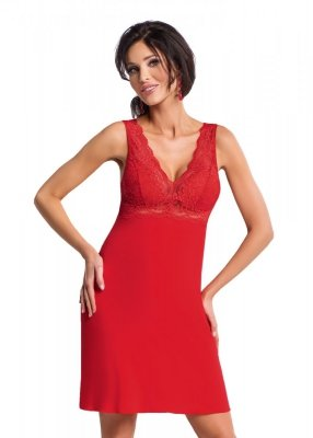 Koszula nocna Chantal czerwona Donna