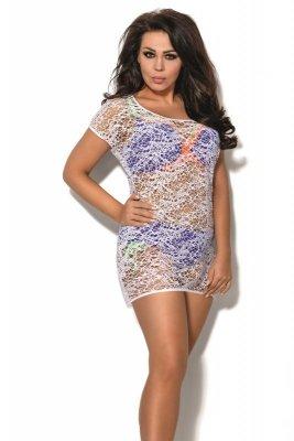 Sukienka plażowa Ava sp 2 plus biały