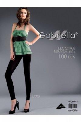 Leginsy Gabriella 146 microfibra long chocco