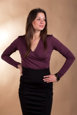 Bluzka Abigail 3022 śliwka