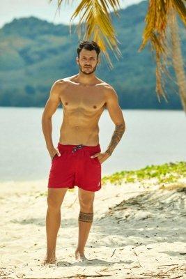 Szorty kąpielowe Henderson Hooper 37833-33X Czerwone