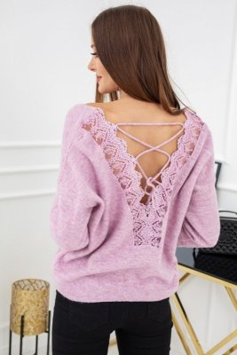 Sweter damski Vittoria Ventini Serenity Lace Lilac CH298
