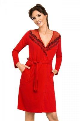 Szlafrok Jasmine czerwony Donna