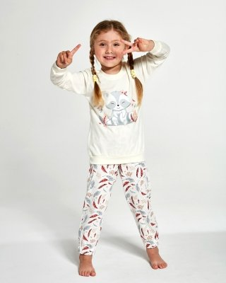 Piżama dziewczęca Cornette Kids Girl 594/121 Raccon 86-128