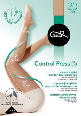 Rajstopy damskie Gatta Control Press 20 den 2-5