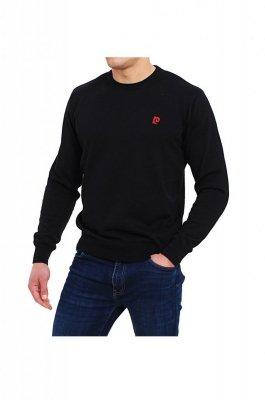 Sweter R-Logo czarny Pierre Cardin