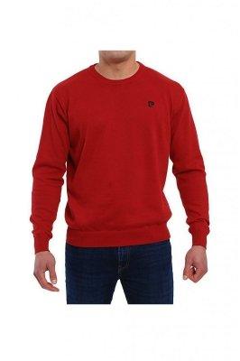 Sweter R-Logo bordowy Pierre Cardin