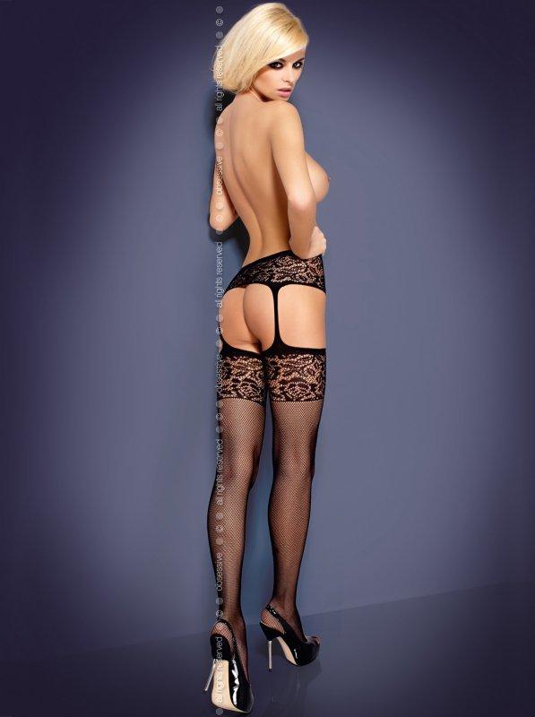 Pończochy Garter stockings S500 black Obsessive WYSYŁKA 24H