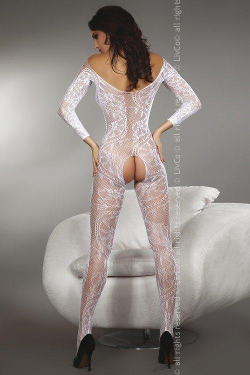 Bodystocking Zita white Livia Corsetti