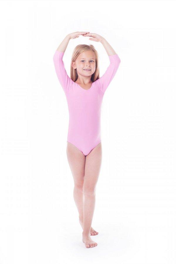 Body gimnastyczne lycra (B9) rękaw 3/4 Shepa